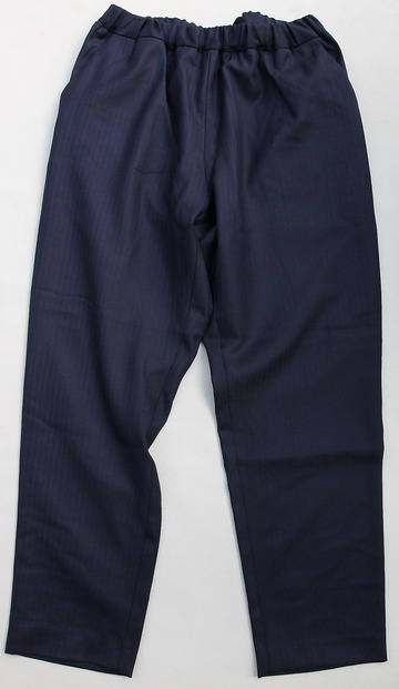 CESTERS Wool Herringbone  No Pleats Easy Trousers NAVY (5)