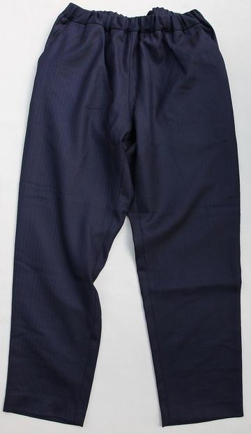 CESTERS Wool Herringbone  No Pleats Easy Trousers NAVY (5)