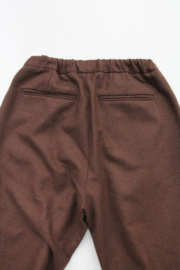 CEASTERS 2 Pleats Easy Trousers BROWN  by Burel (4)
