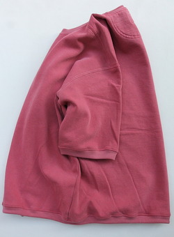 Oddoment Remake Dyed Half SLB Sweat Shirt SCARLET (4)