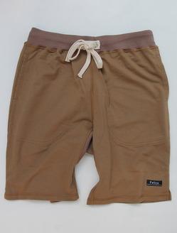 Felco Gym Shorts Mini French Terry TAN