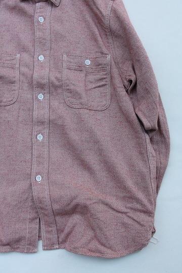 FOB Herringbone Flannel Work Shirt RED (3)