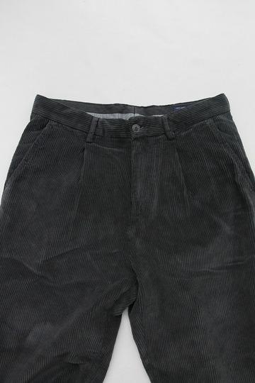 Riccard Metha Corduroy 1 Tuck Wide Trousers GREY (3)