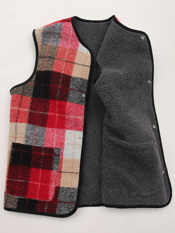 Vincent et Mireille Boa Check RV Vest RED Check (4)