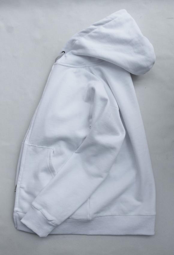 Arbre HW Cotton Fleece Zip up Sweat Parka WHITE (4)