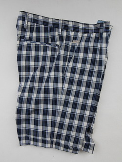 Perfection Tuck Shorts BLUE Plaid (2)