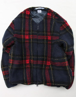 NUON Zip Check RED X NAVY