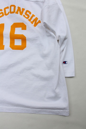 Champion T 1011 34 Football Tee Shirt WISCONSIN 16 WHITE (3)