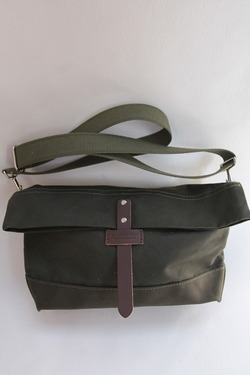HERITAGE LEATHER Co Travel Pouch 10 10 ARMY Duck OLIVE
