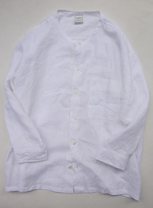Le Ciel de Harriss Broad Big Shirt with Pocket WHITE