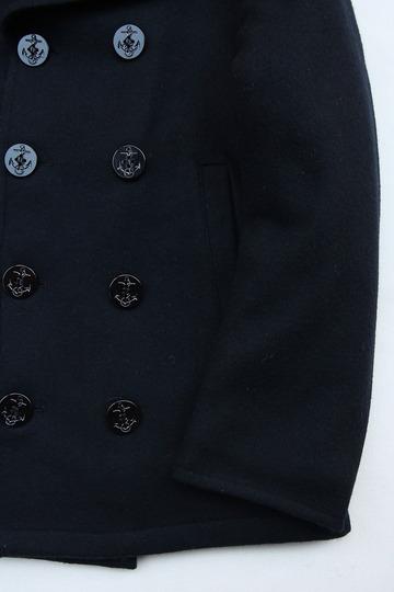 Sterlingwear Wool Melton P Coat NAVY (4)