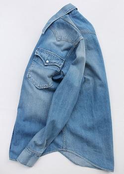 FOB  Vintage Washed Denim Western Shirt (5)