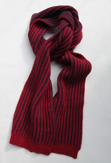 Robert Sim Rib Knit RED X GRAY NAVY (4)