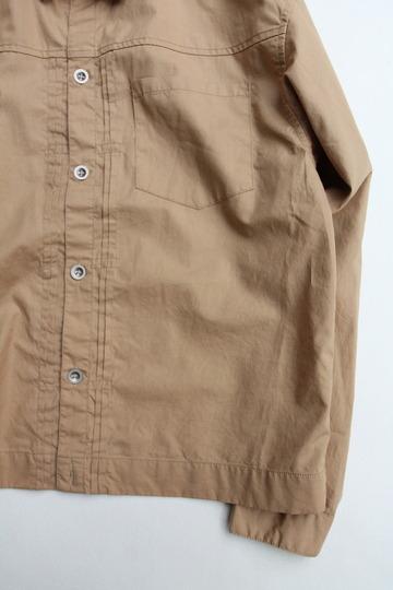 Vincent et Mireille G Shirt Yarn Dyed Broad BEIGE (3)