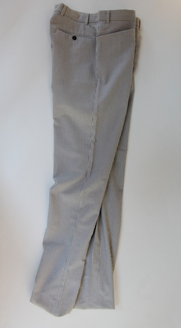 Mabitex Seersucker Tepered Pants BEIGE X GREY (2)