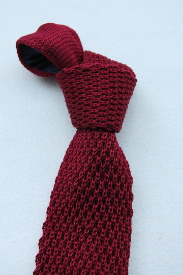Component Silk Knit Tie WINE (3)
