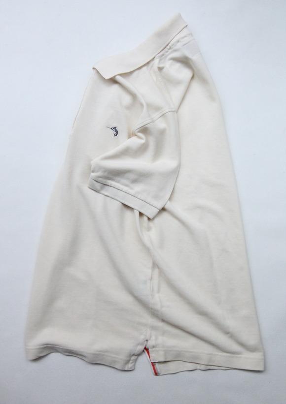 Praivate Lives Cotton Pique Polo Vintage Look ECRU (2)