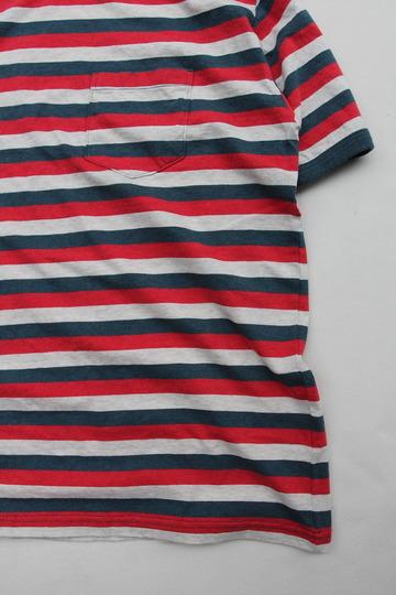 Felco SS Ringer Stripe Pocket T TRICO BLUE (4)