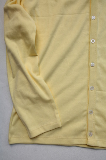Quotidien 1X1 Rib Vneck Cardigan YELLOW (5)