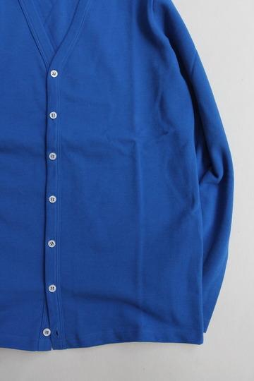 Quotidien Cotton Pique V Neck Cardigan ROYAL BLUE (3)