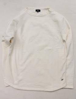 Harriss Cotton Bind Boat Neck SW Shirt NATURAL