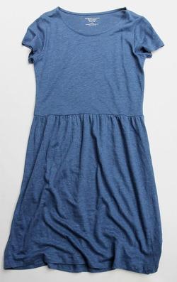 Majestic Cotton & Linen Lounge Dress BLUE MELANGE
