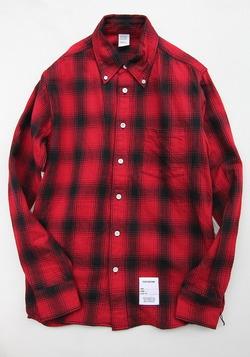 Your Uniform 3 Needles Ombre Check BD Shirt Elbow Patch