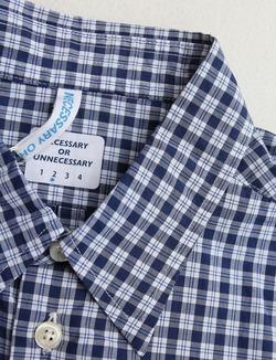 NOUN SS Plaid Shirts NAVY (4)