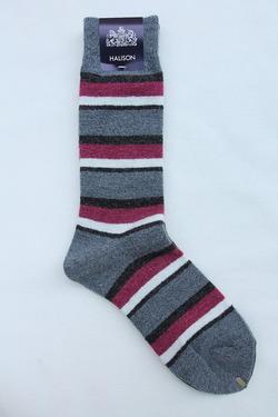 HALISON Doralon Multi Border Socks GREY (2)