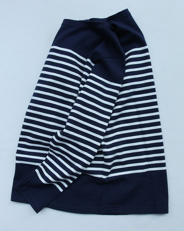 Chums LS Boat Neck Border Basque NAVY (5)