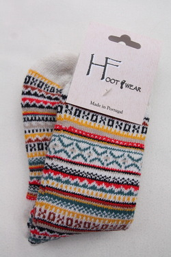 H Footwear Fair Isle WHITE (2)