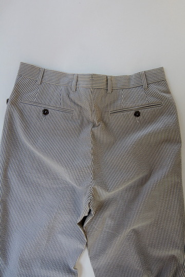 Mabitex Seersucker Tepered Pants BEIGE X GREY (5)