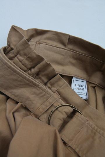 Le Ciel de Harriss Brushed Twill  Skirt TAN (3)