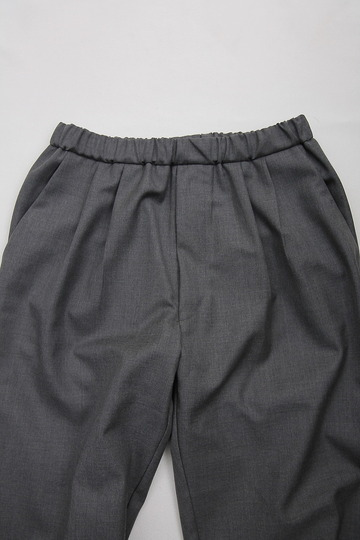 CASTERS Summer Wool 2Pleats Trousers LITE GREY (3)
