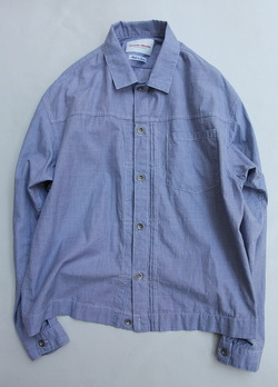 Vincent et Mireille G Shirt Yarn Dyed Broad End on End
