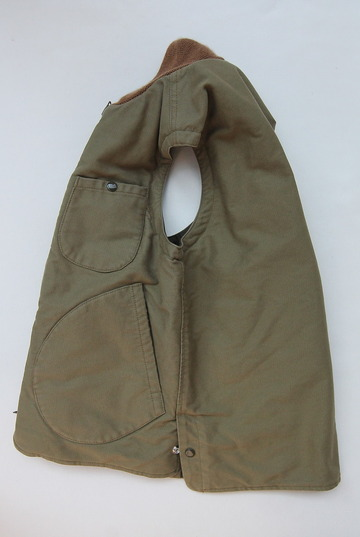 Keaton Chase Military Deck Vest Bedford Cloth OLIVE (4)
