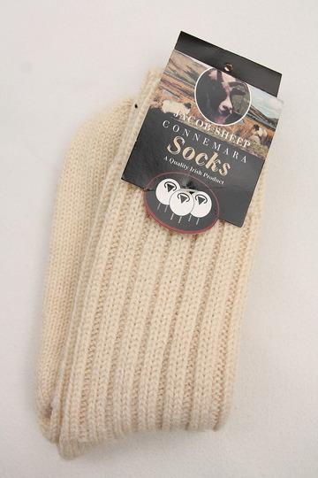 Jacob Sheep Connemara Socks ECRU (3)