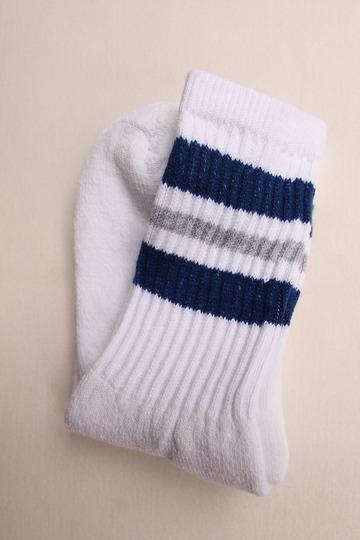 STRIP Crew Socks 9-11 NAVY & GREY (2)