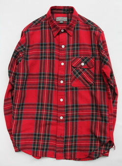 EMPIRE & SONS Work Tab Shirt Flannel Check RED Check