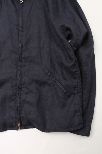Arbre Linen Zip Jacket NAVY (3)
