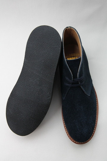 Laborer Shoes Postman Chukka NAVY Suede (6)