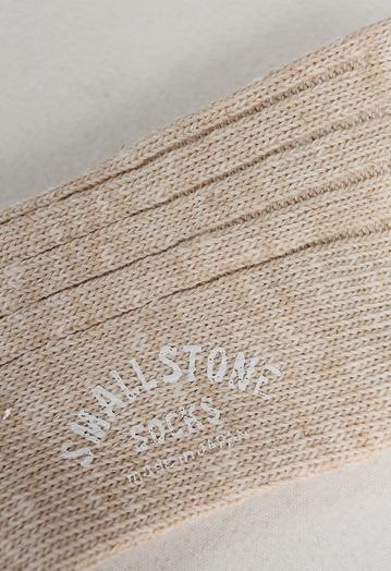 SMALL STONE Socks Cotton Linen Crew Socks NATURAL (2)