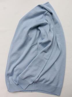 Vitter 2430 Zip Cardigan SAX BLUE (4)
