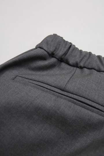 CASTERS Summer Wool 2Pleats Trousers LITE GREY (5)