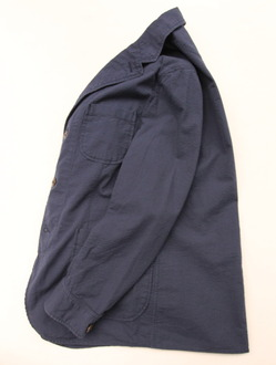 Candidum Seersucker Shirt Jacket NAVY (5)