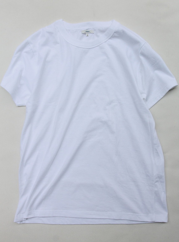 ARMEN Cotton Jersey Crew Neck S SL T WHITE