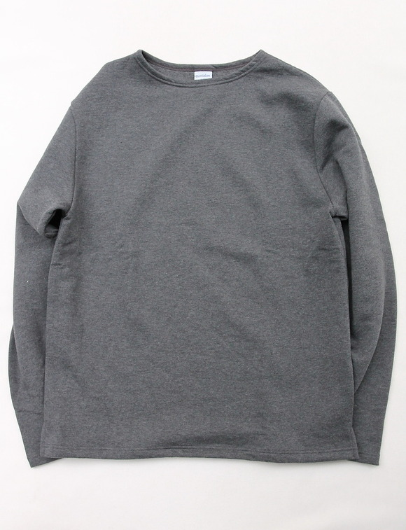 Quotidien Cotton Fleece Boatneck  ANTHRACITE CHINE