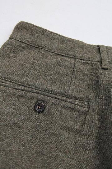 FOB 2 Tuck Wide Pants CW Back Satin OLIVE (3)