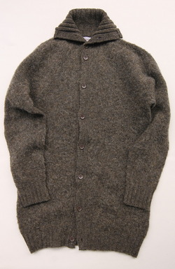 John Tulloch Heavy Brush Polo Neck Cardigan