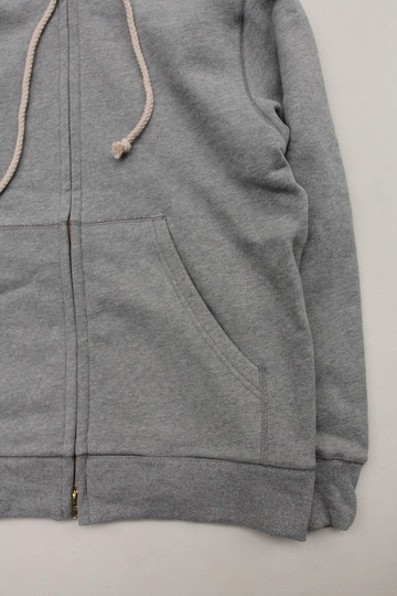 Arbre HW Cotton Fleece Zip up Sweat Parka GREY (4)